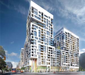 Located at Bathurst st and Front st, Minto Westside is sleek and modern.