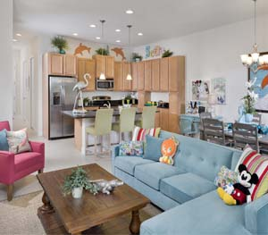 Festival homes in Orlando, Florida offer open concepts, bright colours and stainless steel appliances.