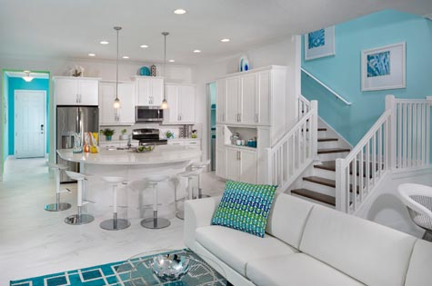 Festival interior, showcasing open concept, bright colors and plenty of entertaining space. Now available