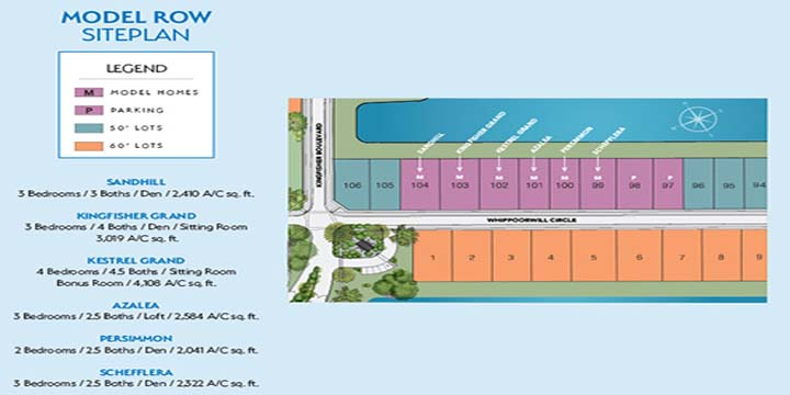 Model Row siteplan at Westlake