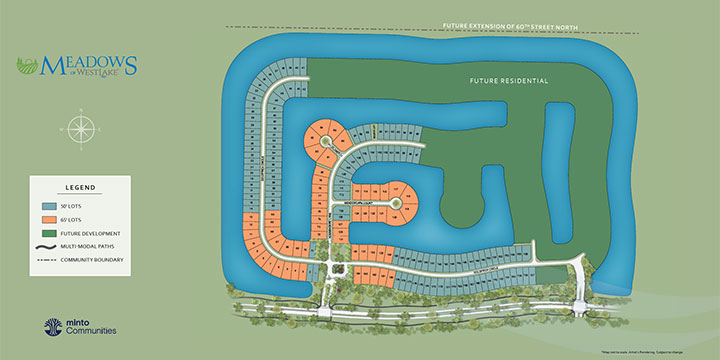 Meadows site plan for Westlake
