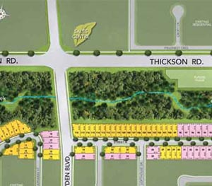 Site Plan, Homes For Sale At Ivy Ridge in Whitby
