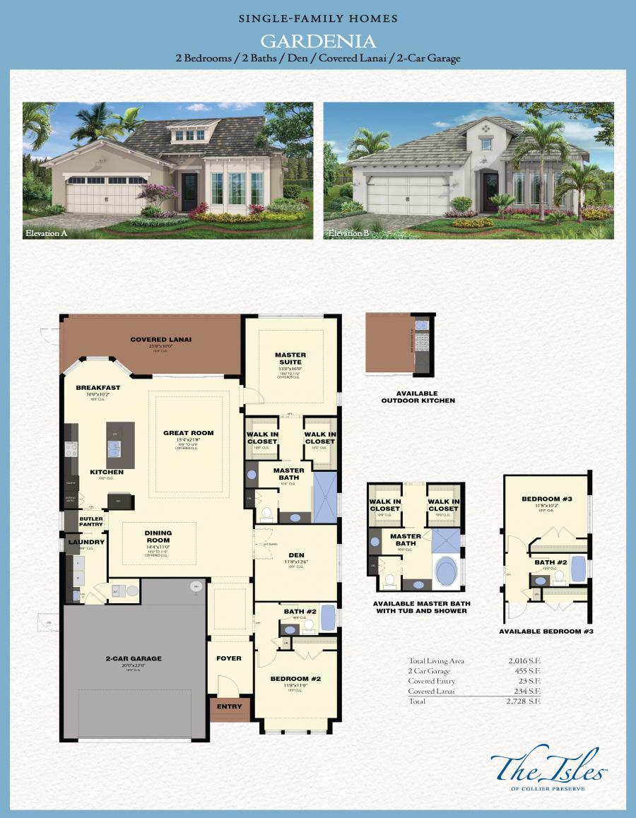 The Isles Of Collier Preserve Gardenia Model Florida Homes Minto