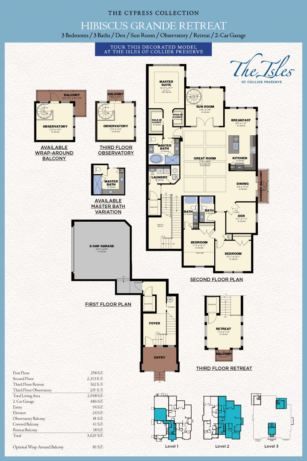 hibiscus-grande-retreat Mercedes Homes Floor Plans Florida Cypress Palm on