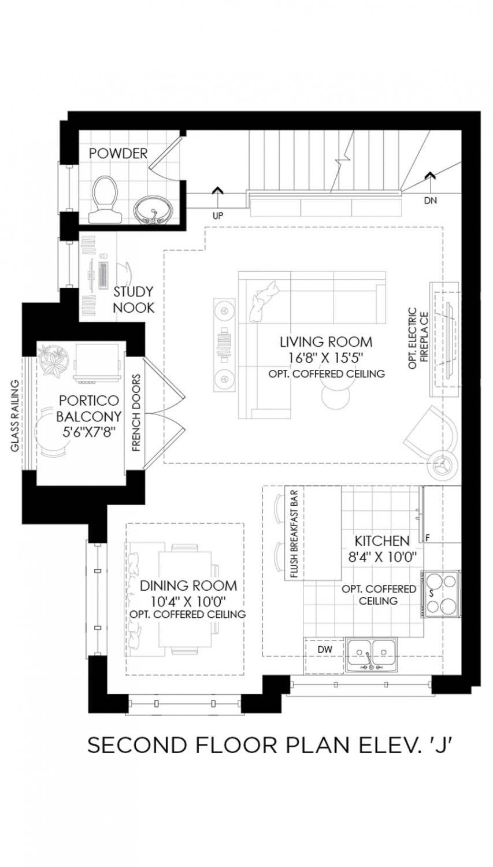 100 The Castle Rock Floor Plan Dylan Urban Gold