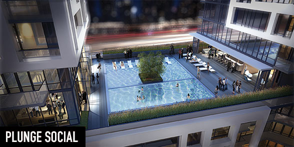 Rooftop pools and indoor lounges will be available at Minto Westside, located in Downtown Toronto