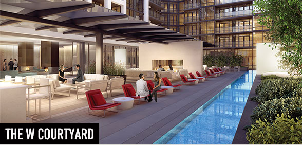 The W Courtyard is carefully sculpted to offer greenery and comfort