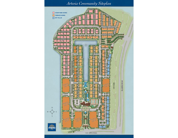 Artesia overview site map, in Sunrise Florida