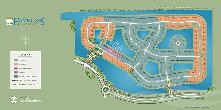 Hammocks site plan at Westlake