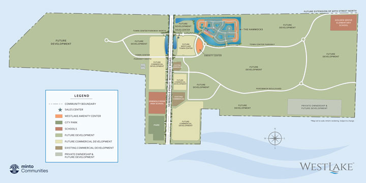 Community site plan for Westlake
