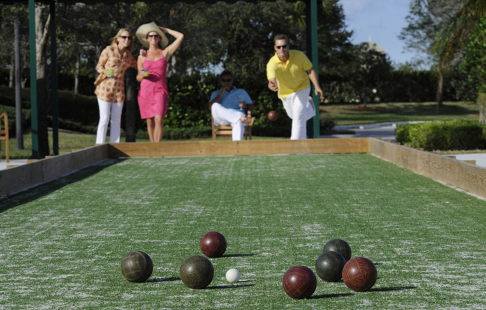 Bocce ball courts available at TownPark Club
