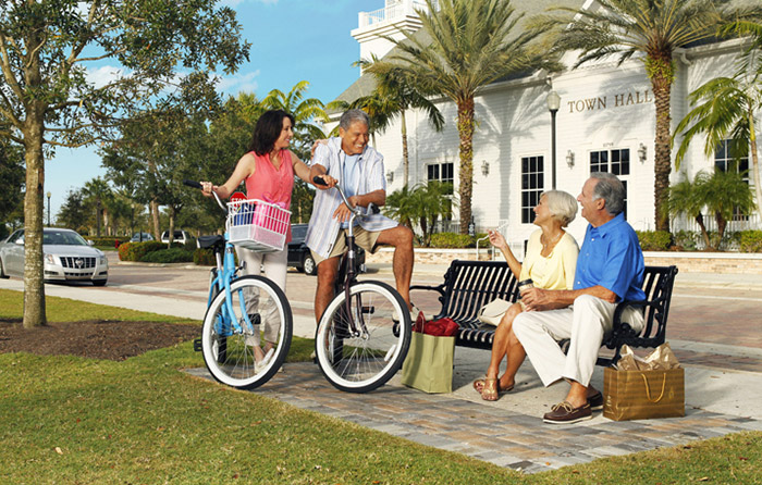 Tradition Square is just a short walk or bike ride away