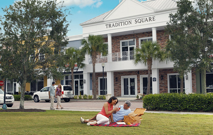 Relax with an afternoon picnic in Tradition Square