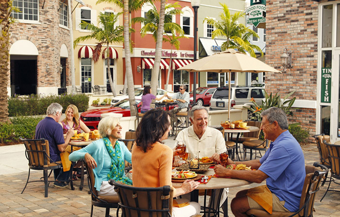 Incredible dining options just steps from your home.