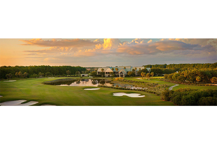 Beautiful private clubhouse overlooking the one of two golf courses at TwinEagles