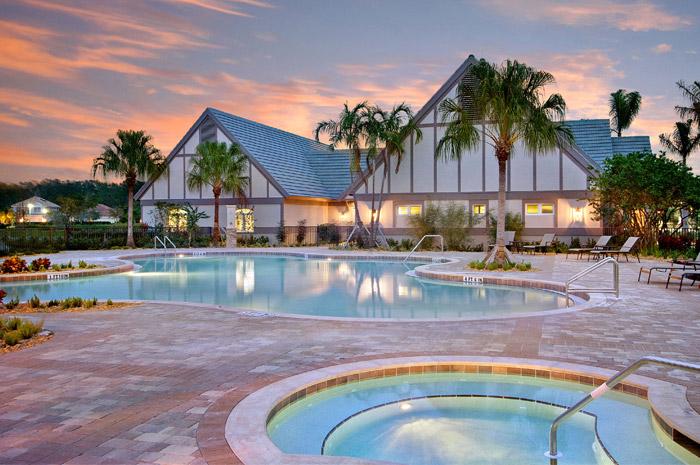 Resort-style pool with zero entry