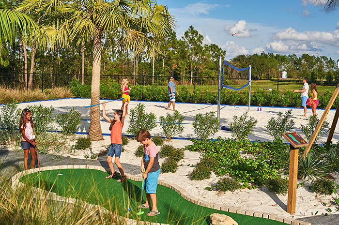 Putt-putt and sand volleyball in your backyard