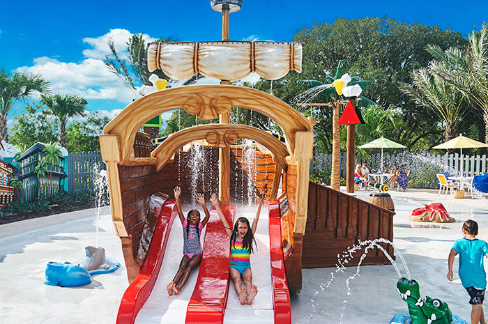 Fun splash pad that's great for all ages