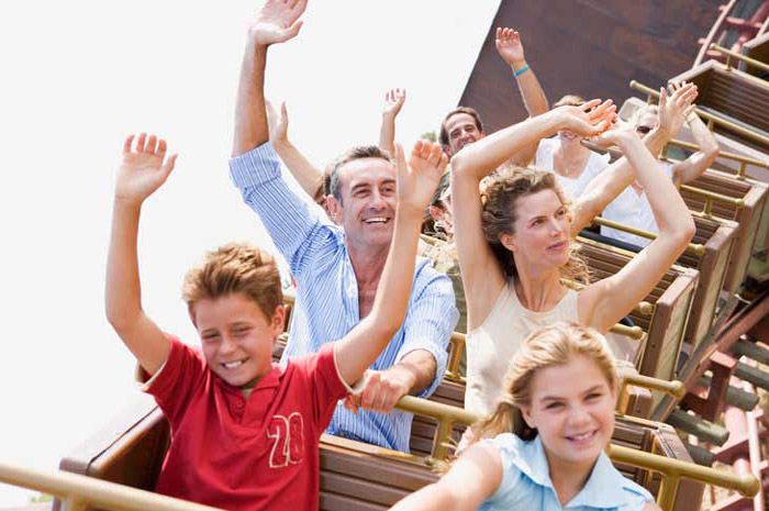 A short drive to many popular amusement parks