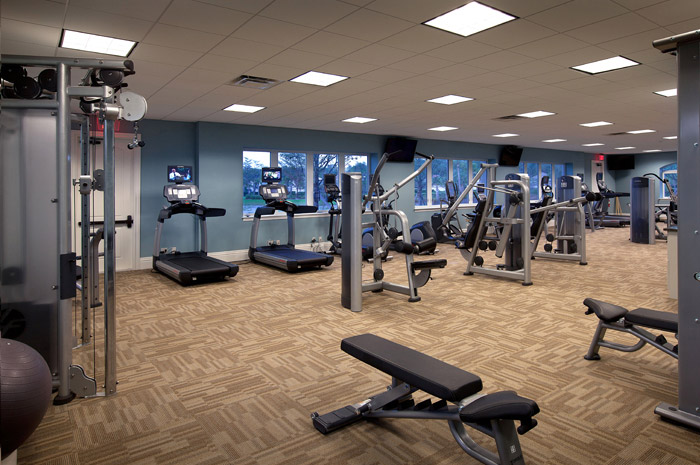 6,430 square foot fitness center with state-of-the-art fitness equipment and locker rooms