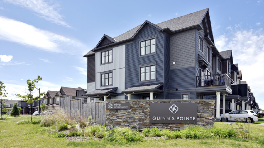 Quinn's Pointe entrance to the community
