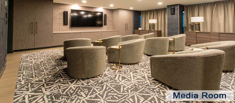 Media Room In Luxury Apartments For Rent Yorkville Downtown Toronto