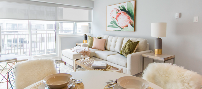 Rental apartment in Ottawa's centretown, James and the Gilmour