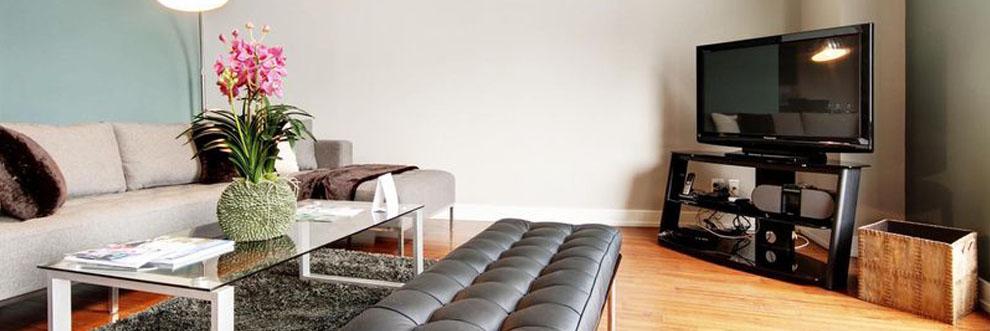 TV Room in MTL Furnished Suites