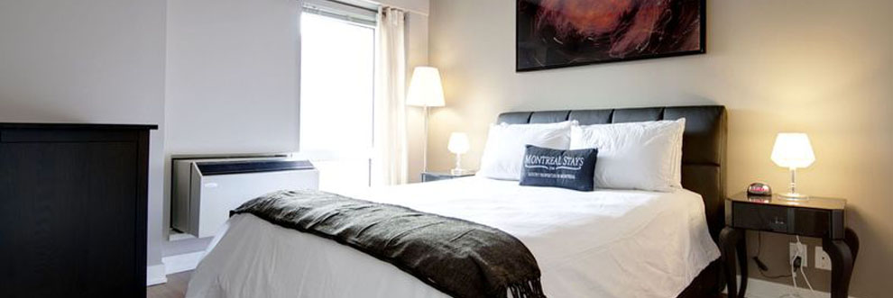 Fully furnished bedroom in Montreal