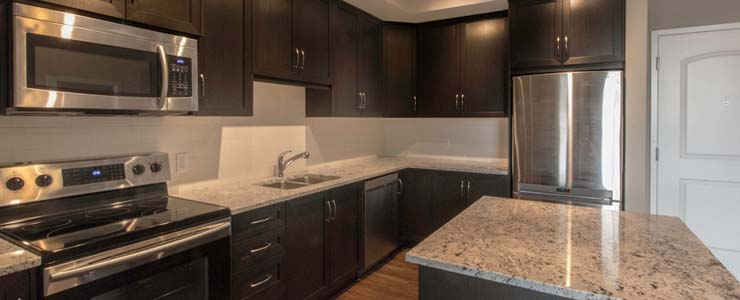 Calgary luxury apartment kitchen