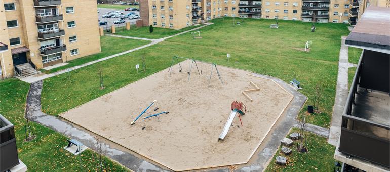 Toronto apartment playground