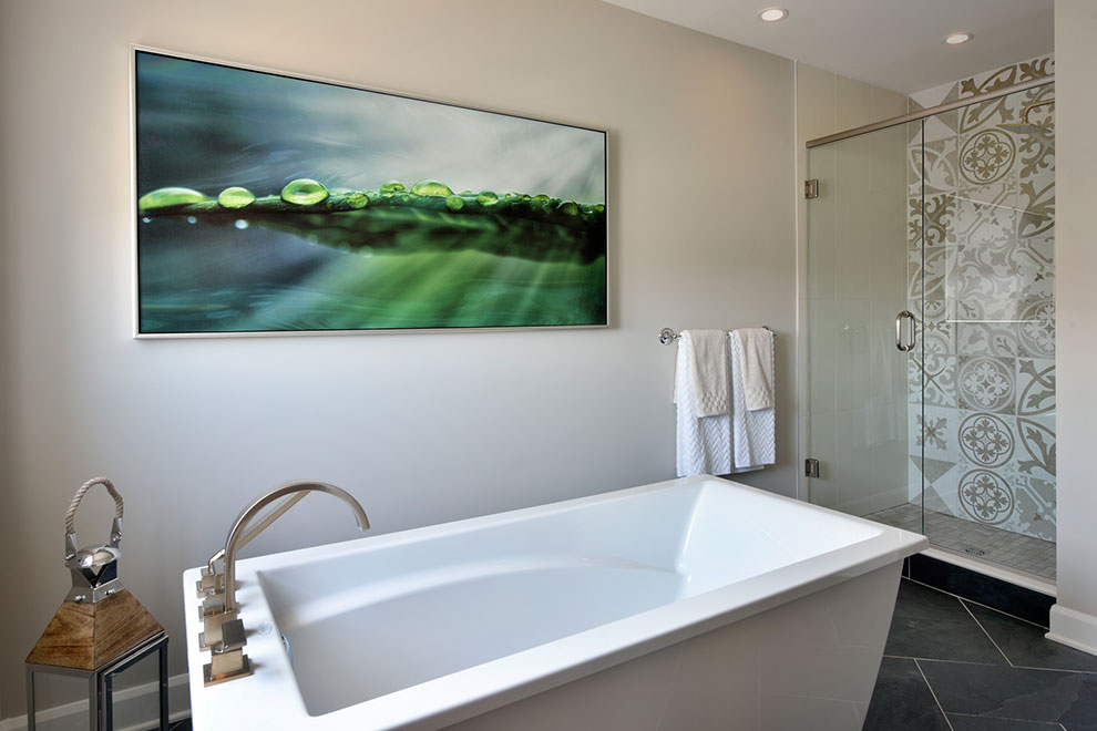 Bathroom at Mackenzie Model Home For Arcadia in Kanata Ottawa
