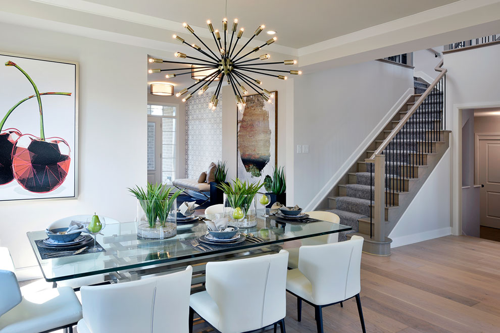 Dining Room at Mackenzie Model Home For Arcadia in Kanata Ottawa