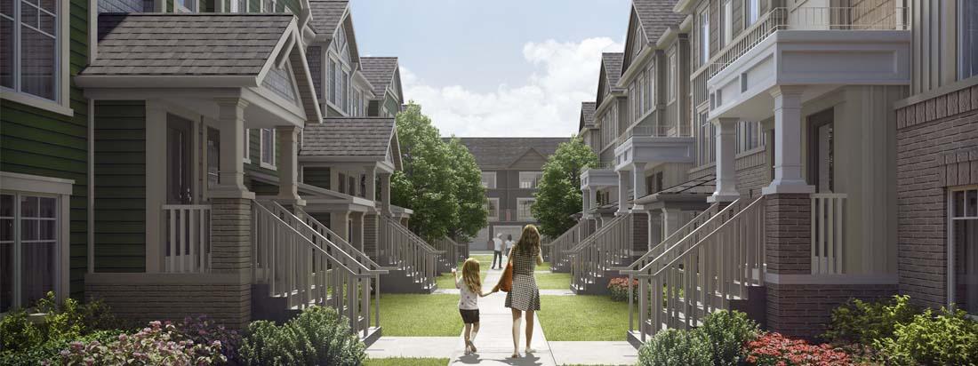 Stacked Townhomes at Kingmeadow