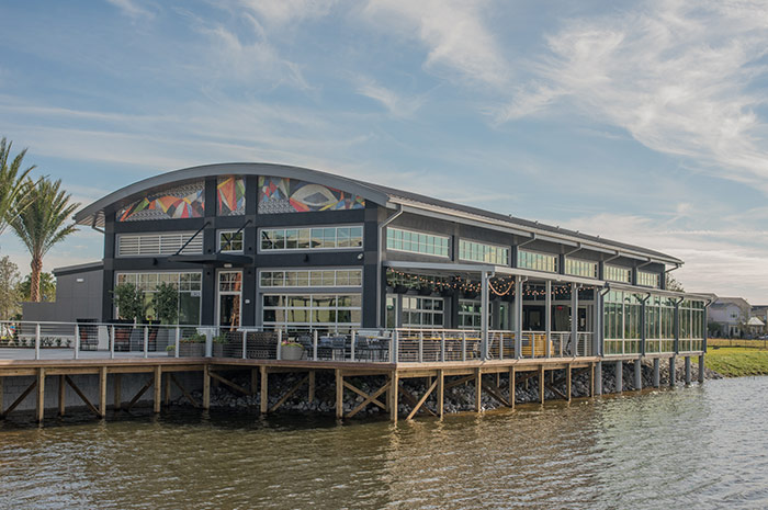 Casual, waterfront dining right within your own community