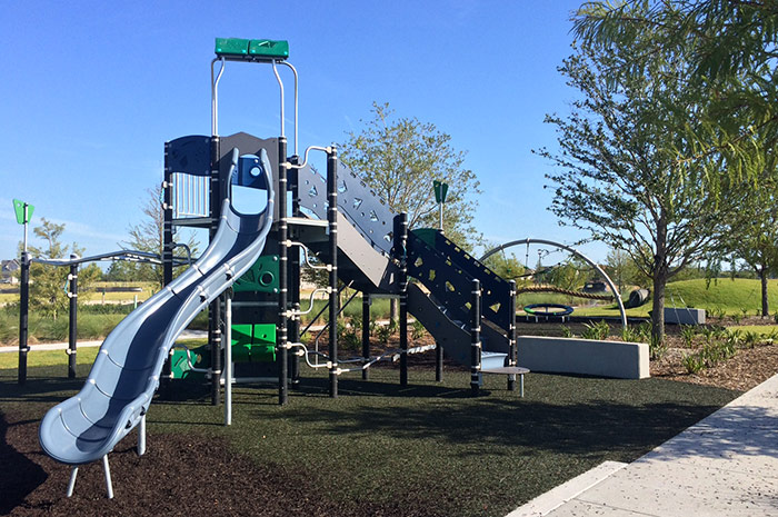 Kids will delight in the community playground and many open spaces
