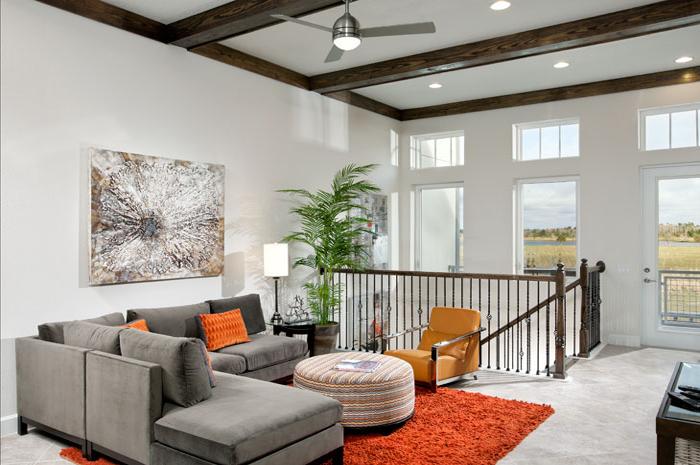 Open loft in 2 or 3 bedroom courtyard homes (Brenner Model Shown)