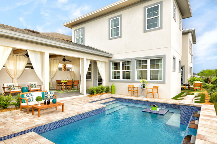 Outdoor living with pool (Cormack Grande Shown)