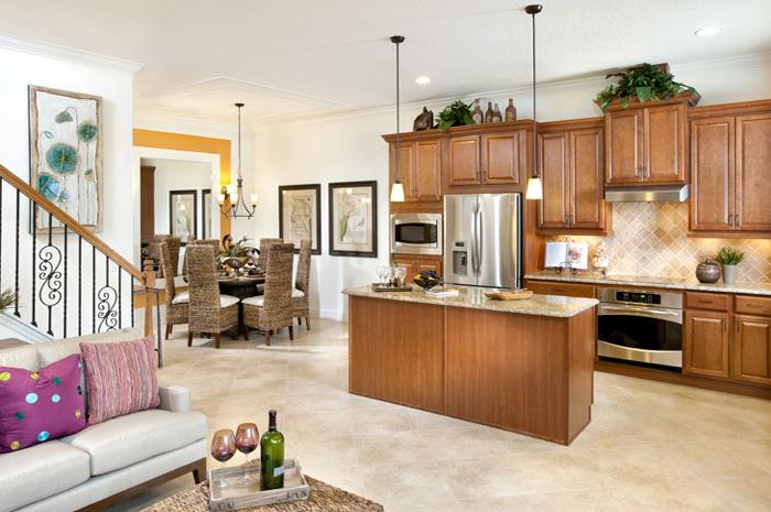 Open floorplan living in spacious 3 bedroom courtyard home (Hartwell Shown)