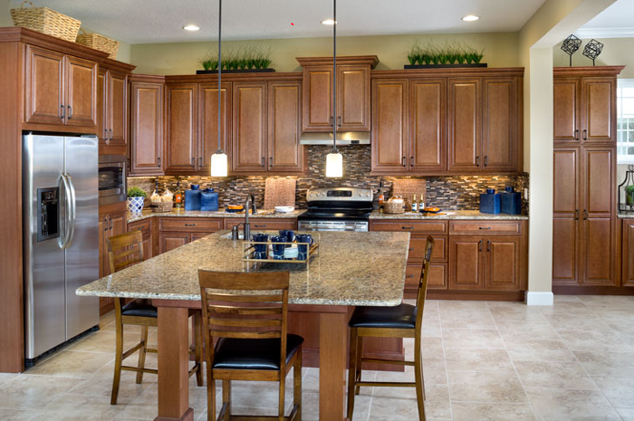 Large open kitchen with center island perfect for entertaining (Huxley Grande Shown)