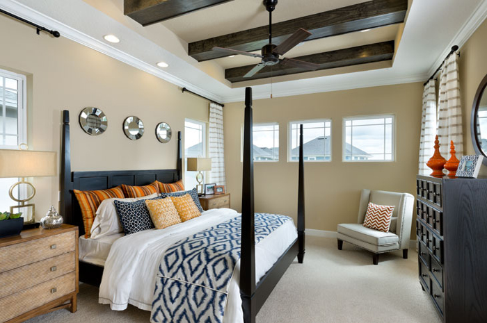 Relaxing master bedroom  in 3 bedroom single family home (Huxley Grande Shown)