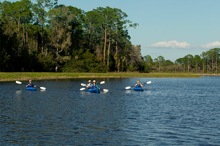 Miles of scenic kayaking through acres of unspoiled natural habitat