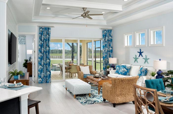 Open floorplan in 3 bedroom 2 bathroom luxury villa (Fresia Shown)
