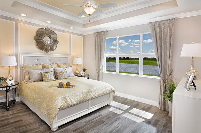 Luxury bedroom retreat with water views (Banyan Shown)