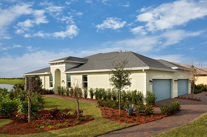 2 bedroom villa in one of Florida's 'Best Places to Retire' (Buttonwood Shown)