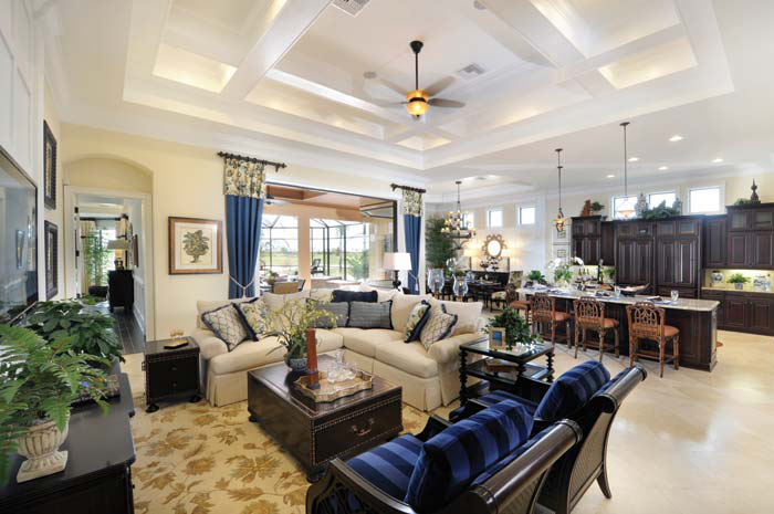 Spacious residences feature high ceilings and custom home designs (Turnberry Grand Shown)