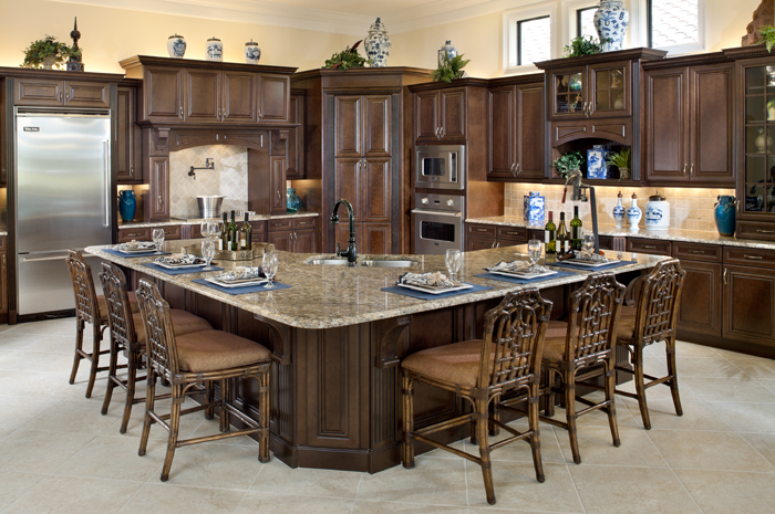 Beautiful custom kitchen with granite counter tops and wood cabinets (Turnberry Grand Shown)