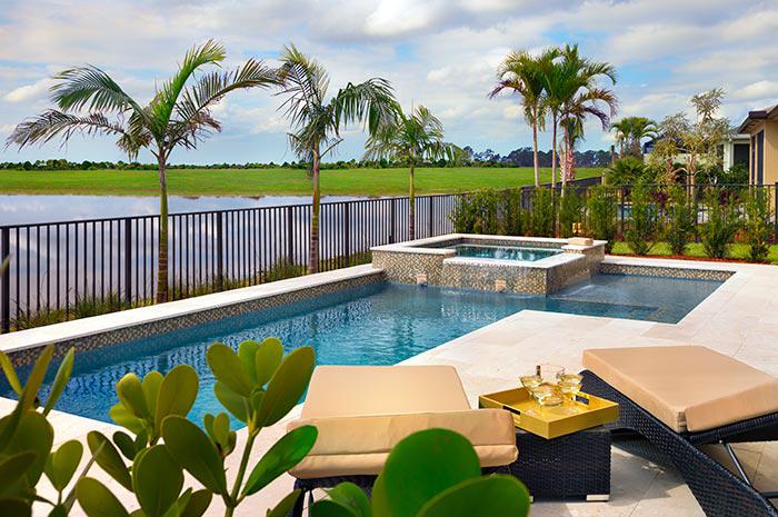 Beautiful pool overlooking beautiful water views (Isle shown)