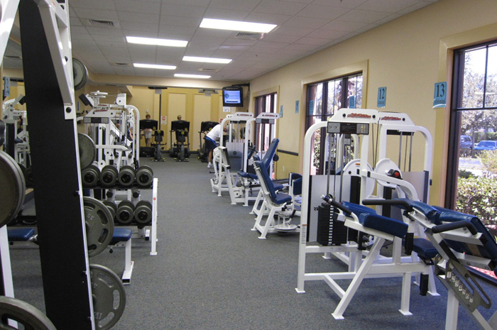 Exercise in the Wellness Center, a state-of-the-art fitness center