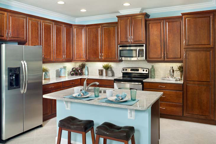 Custom kitchens with stainless steel appliances (Banyan Shown)